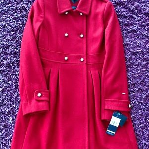 Tommy Hilfiger Princess Military Pea coat, Red